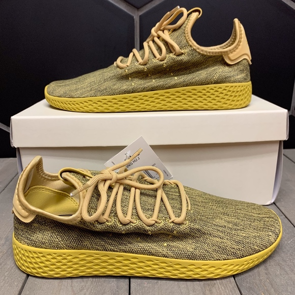 new style b1508 aed85 Adidas Pharrell Human Race Tennis Gold Youth Shoes